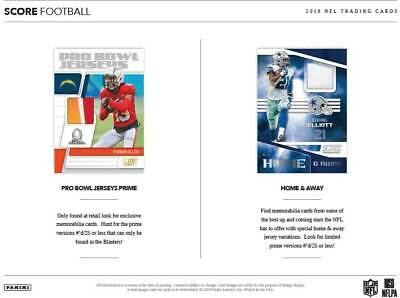 (4) 2019 Panini SCORE Football NFL Trading Cards 40c Retail FAT PACK LOT -Red PC