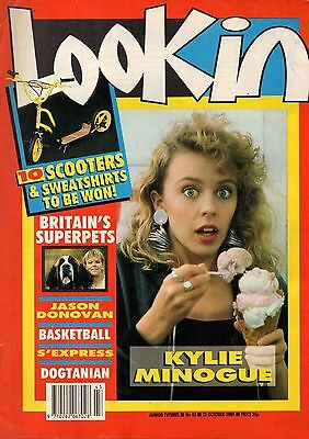 Look-In Magazine 21 October 1989     Kylie Minogue     Mark Moore of S'Express