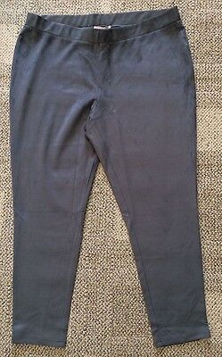 Philosophy Gray Faux Suede Leggings Stretch Pants Gray Womens Plus Size 3X