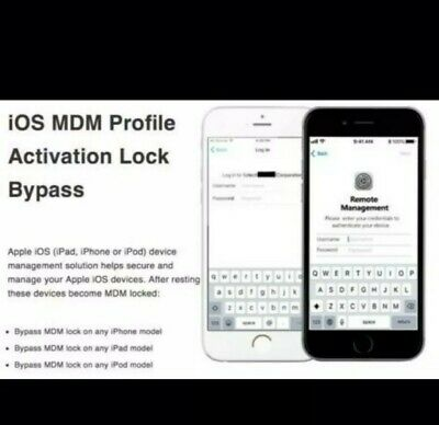 APPLE MDM REMOTE MANAGEMENT PROFILE REMOVE ANY iOS by serials