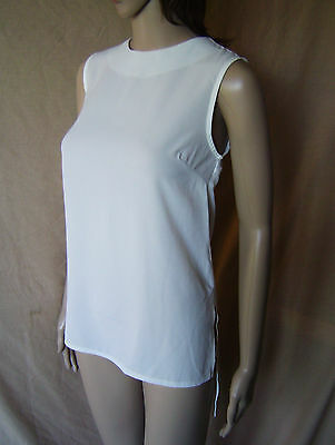 f608a1d76 **new** Womens Atmosphere Ivory White Sleeveless Extended Back Top Size 10  Eu