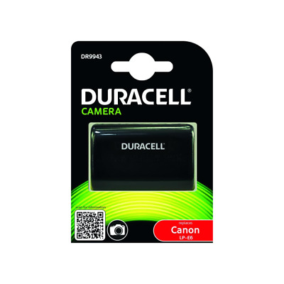 Duracell DR9943 Camera Battery - replaces Canon LP-E6 Battery 7.4V 1600mAh