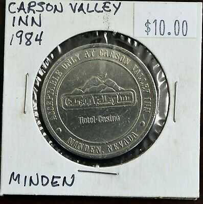1984 Carson Valley Inn Casino One Dollar Gaming Token Minden Nevada