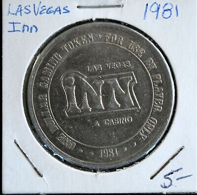 1981 Las Vegas Inn Casino One Dollar Gaming Token