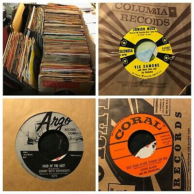 "50s 60s Oldies Pop Soul Jazz Jukebox 45rpm 7"" vinyls ($11 /20 records) NM cond"
