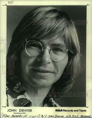 1973 Press Photo Young singer John Denver at the Arena Concert - lrp16589
