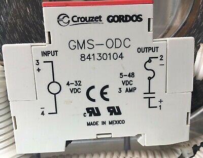 Lot of 4 Crouzet Gordos GMS-ODC 84130104 Relay Modules 5 Amp Fuse 5-48 VDC Out
