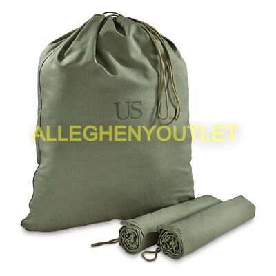 US Army Military Barrack Bag Cotton Laundry Duffle Tote Storage Bag MINT
