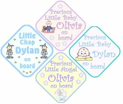 Personalised Baby boy / Girl Car Sign on board and more