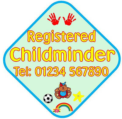 Personalised Childminder/Childminding Car Sign, *advertise your business* large