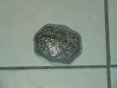 Brass BUD / Budweiser Beer Solid Brass Aged Belt Buckle by Rogers-Whitley 2007