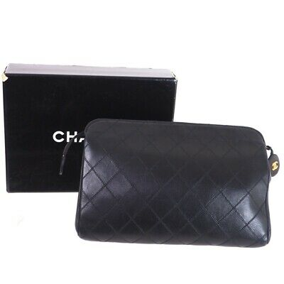 febbad68d5ab Vintage Chanel Excellent Condition Black Quilted Clutch Clutch Bag.NFV5296