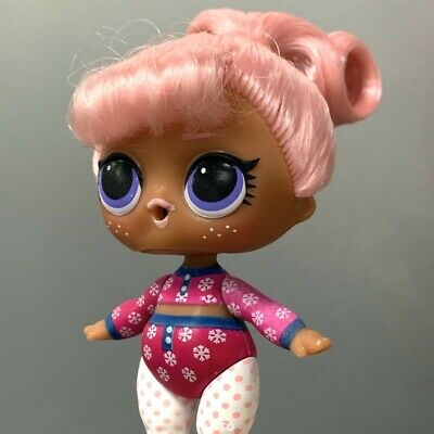 Lol Surprise Dolls SNOW BUNNY Series 5 HAIR GOALS Authentic toy - Color changed