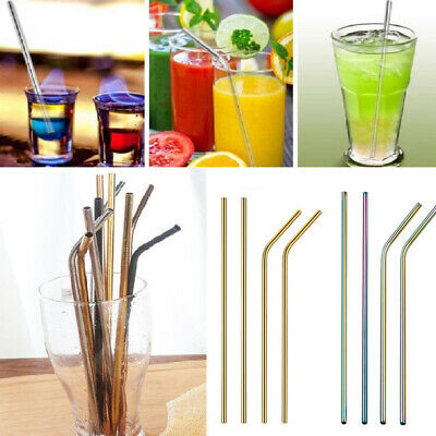 Metal Pailles en acier inoxydable boissons Paille Cleaner Party Réutilisable .N