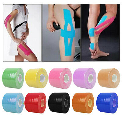 5M Sports Kinesiology Tape Outdoor Muscle Strain Injury Elastic Support KT Roll