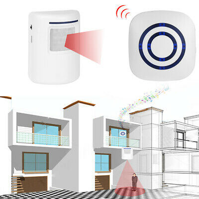 Wireless Infrared Motion Sensor 38 Chimes 150M Remote Doorbell Security Alarm