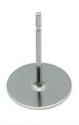 1x Stainless Steel Flat Round Blank Peg Post Ear Stud Component Earring Finding