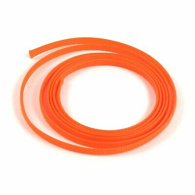 "3/8"" Orange Braided Expandable Car Wiring Flex Loom Tubing Wire Insulator 10 Ft."