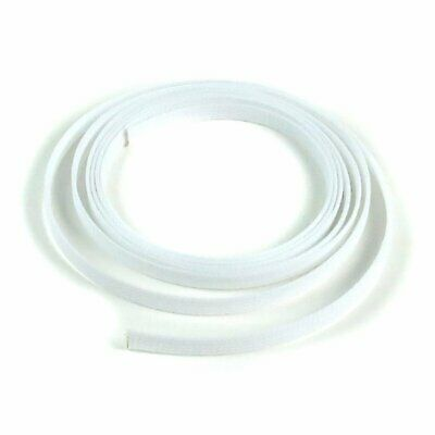 "1/8"" White Braided Expandable Car Wiring Flex Loom Tubing Wire Insulator 10 Feet"