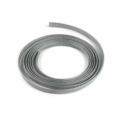 "3/8"" Grey Braided Expandable Car Truck Flex Loom Wire Cable Insulator Tube 10 Ft"