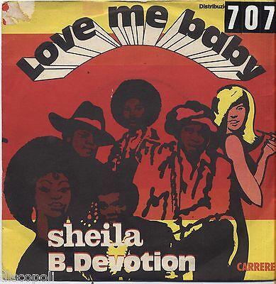 "SHEILA B. DEVOTION - Love me baby - VINYL 7"" 45 LP ITALY 1977 VG+ COVER VG-"