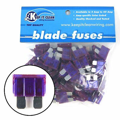 4 Bag of 100 0 Amp ATC Blade Fuses Full size modern fuse box harness painless OE