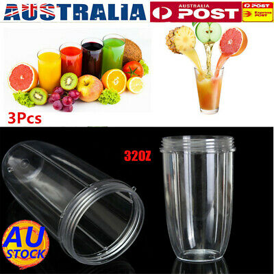 AU 3Pcs Replacement BlendersJuicer Cup Mug 32oz Part Extractor  For Nutribullet