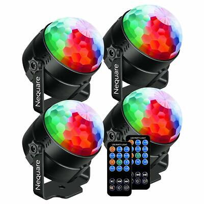 Nequare Party Lights Sound Activated Disco Ball Strobe Light 7 Lighting Color Di