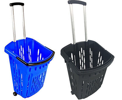 38L Rolling Shopping Baskets