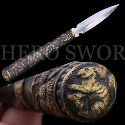 Handmade Tea needle Damascus Steel  exquisite Chinese Sword GIFT Free Shipping