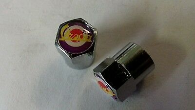 Vespa Chrome Dust Cap Valve Cap Set With Target NEW!!