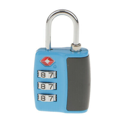 Travel Luggage Suitcase Security Padlock 3 Digits Coded Lock TSA Approved Lock