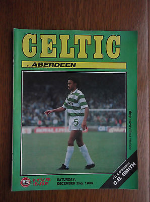 CELTIC v ABERDEEN SATURDAY 2 DECEMBER 1989 - ON THE SPOT - PAUL McSTAY