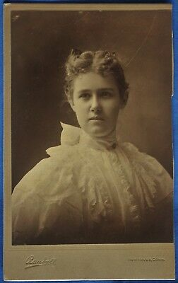Cabinet Photo Young Woman White Dress Randall New Haven CT