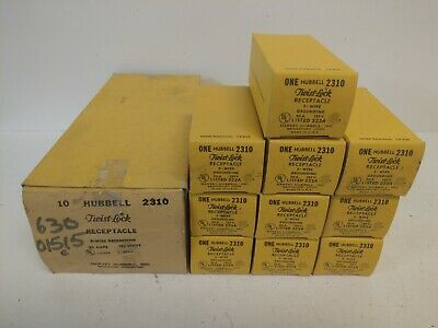 Box Of (10) Nos! Hubbell 20A 3-Wire Twist-Lock Receptacles Hbl2310 2310
