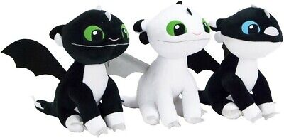 """How To Train Your Dragon The Hidden World Baby Lightfury Toothless 10"""" Plush"""