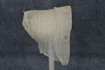 antique baby hat doll infant hand stitched tatted lace original museum 19thc