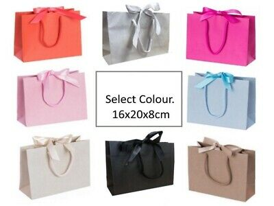 25 Small Ribbon Tie Bow Gift Bags Luxury Party Events Table Favour Wedding Bag