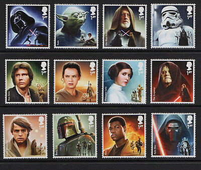 2015 Multi-Choice Single Stamps SG 3758-69 1st 'Star Wars' fr Prestige PSB DY15