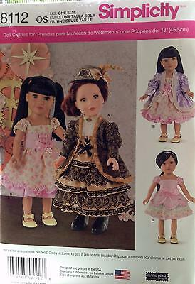 New Pattern 8112 Victorian Style Outfits fit 18 inch American Girl