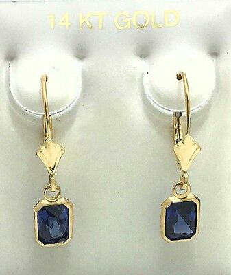 TANZANITE 2.58 Carats EARRINGS Lever Backs 14K Solid Gold *FREE SHIPPING
