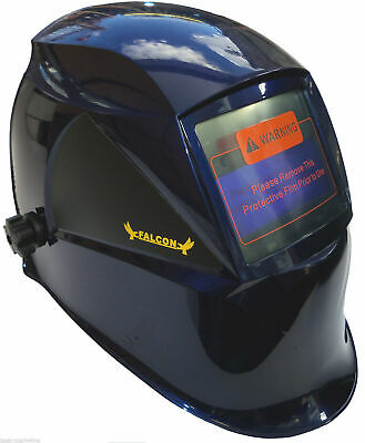 AUTO DARKENING WELDING HELMET WELDERS MASK Shield Solar Powered H12 BLUE