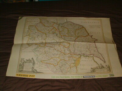 Yorkshire post pull-out Map of Yorkshire poster 60cm x 42cm