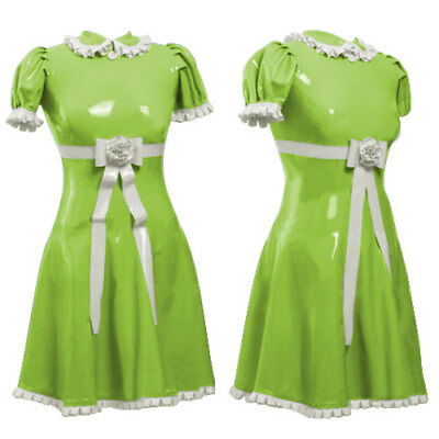 Latexas Latexanzug Latex Ganzanzug Gummi Maid dress Catsuit Rubber Dress