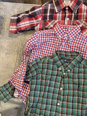 LOT of 3 EUC!! Size 2 T Toddler Boys Spring Button Down Shirts Ralph Lauren Etc