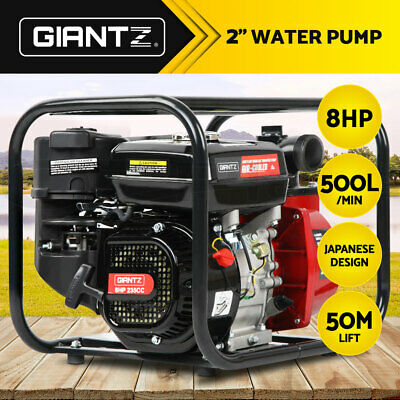 "Giantz 8HP 2"" Petrol Water Transfer Pump Fire Fighting Garden Irrigation 50m"