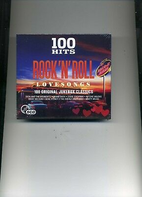 100 Hits Rock 'N' Roll Love Songs - Dion Buddy Holly Gene Vincent - 5 Cds - New!