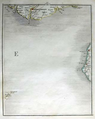 SCOTLAND  KIRKCUDBRIGHT  JOHN CARY GENUINE ANTIQUE MAP  c1794