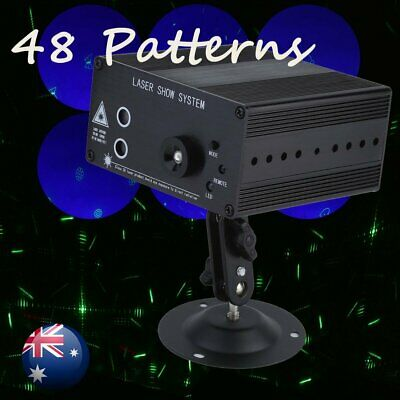 48 Patterns Laser Projector LED RGB Light Stage Lighting Show For Party DJ
