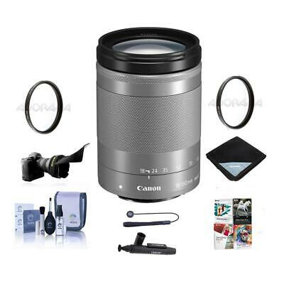 Canon EF-M 18-150mm f/3.5-6.3 IS STM Lens, Silver With Premium Accessory Bundle